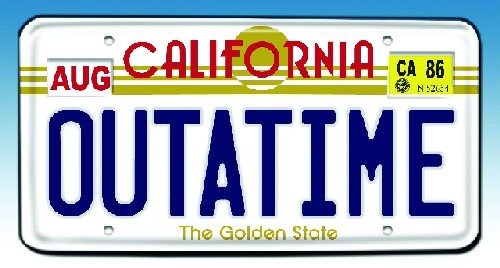 Back to the Future: License Plate