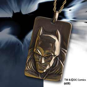 Batman Dark Knight: Bronze Sculpt Pendant