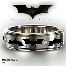 Batman Swirling Emblem Ring