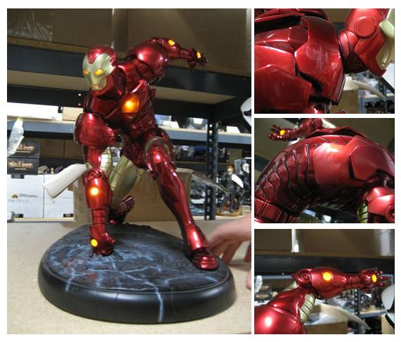 Iron Man Lighted Comiquette Prototype