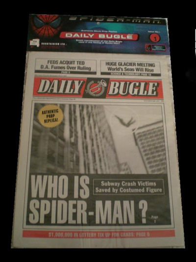 Spiderman: Daily Bugle Newspaper (Spiderman 1) #1