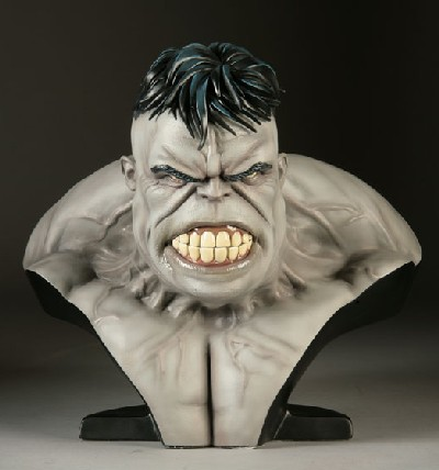 Legendary Bust: The Incredible Hulk Grey Exclusive