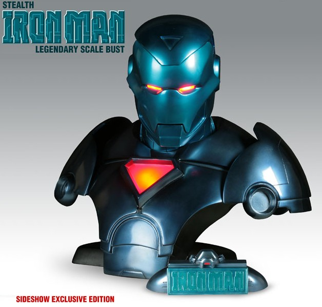 Legendary Bust: Iron Man Stealth Lighted Exclusive Bust