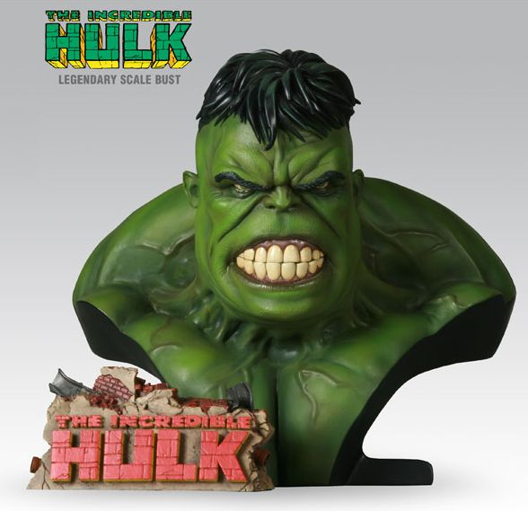 Legendary Bust: The Incredible Hulk Green Exclusive