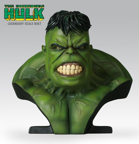 Legendary Bust: The Incredible Hulk Green