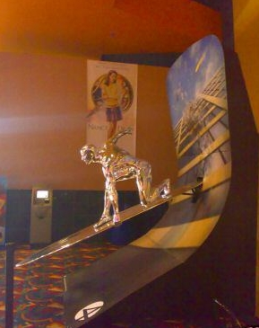 SILVER SURFER Statue w/ Background Standee