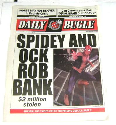 Spiderman: Daily Bugle Newspaper (Spiderman 2)