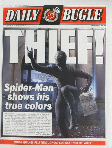 Spiderman: Daily Bugle Newspaper (Spiderman 3)