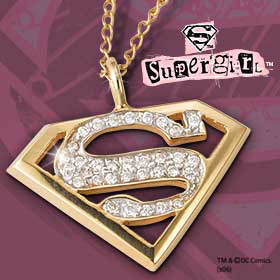 Supergirl  Diamond Pendant
