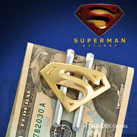 Superman Returns Shield Money Clip - Gold Plated
