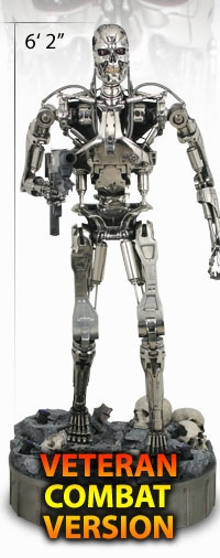 Terminator: T-800 Endoskeleton Chrome Veteran Combat Lifesize