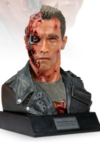 Terminator: Arnold T-800 Battle Damaged Bust