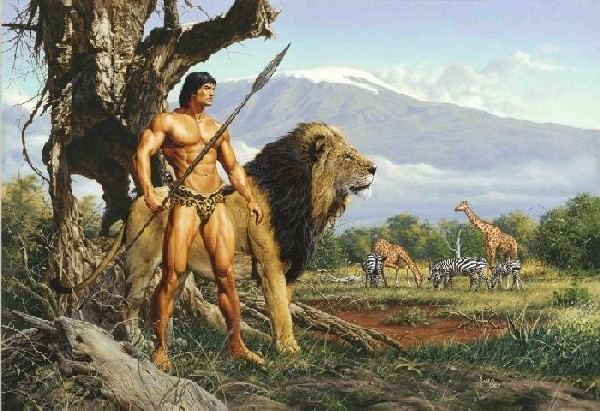 Tarzan & The Golden Lion (Canvas Deluxe Oversize)