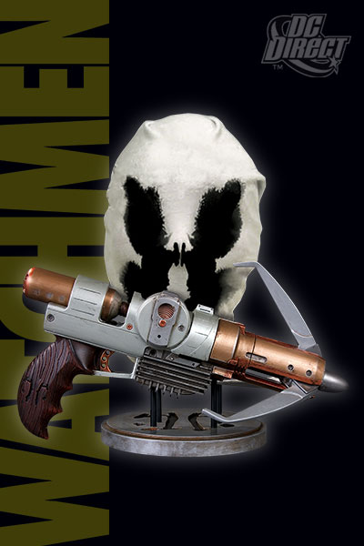 Watchmen Movie: Rorschach Grappling Gun & Mask Set